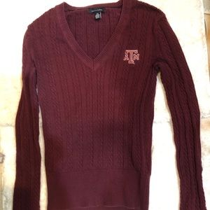 Texas A&M Cable Knit Sweater